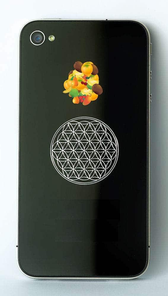 EnerChrom 3D Blume des Lebens Aufkleber gold 3cm