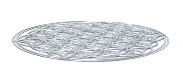 EnerChrom 3D Blume des Lebens Aufkleber silber 3cm