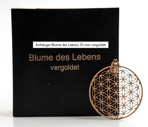 Blume des Lebens Anhänger Gold