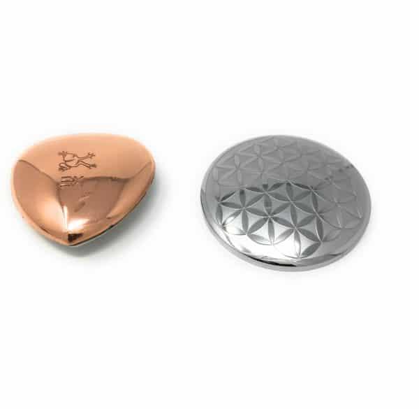Blume des Lebens Amulett MagnetHeart mit Kupfer Edelstahl 30 mm mit 1 Magnet (Energetix Bingen)